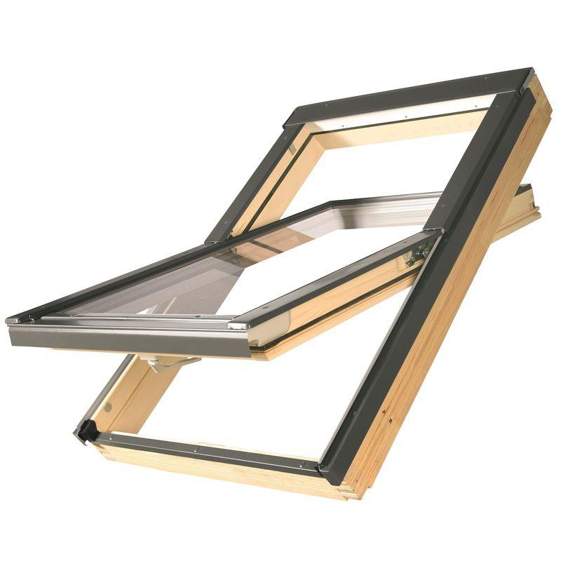 Окно мансардное Fakro FTS U2 Standard 550х780 мм ручка снизу<br>Бренд: Fakro; Коллекция: FTS U2  STANDART; Тип окна: Мансардное; Размер: 550Х780 мм; Площадь остекления: 0,22 м?; Количество камер: Однокамерное; Форма: Прямоугольная; Расположение оси: По центру; Материал: Дерево; Расположение рукоятки: Снизу; Заполнение камеры: Аргон; Особые свойства: Звукоизоляция; Особые свойства: Закаленное стекло; Особые свойства: Лакированное; Цвет: Коричневый; Страна производитель: ПОЛЬША; Вес: 20 кг;