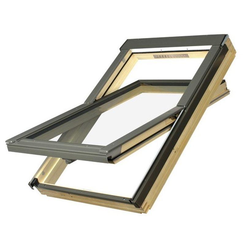 Окно мансардное Fakro FTP-V U3 PROFI 780х1180 мм ручка снизу<br>Бренд: Fakro; Коллекция: FTP-V U3 PROFI; Тип окна: Мансардное; Размер: 780Х1180 мм; Площадь остекления: 0,59 м?; Количество камер: Однокамерное; Форма: Прямоугольная; Расположение оси: По центру; Материал: Дерево; Расположение рукоятки: Снизу; Заполнение камеры: Аргон; Особые свойства: Звукоизоляция; Особые свойства: Вентиляционный клапан; Особые свойства: Лакированное; Особые свойства: Закаленное стекло; Цвет: Коричневый; Страна производитель: ПОЛЬША; Вес: 35,1 кг;