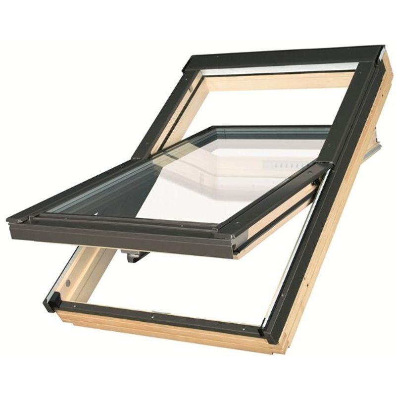 Окно мансардное Fakro FTP-V U5 Thermo LUX 660х1180 мм ручка снизу<br>Бренд: Fakro; Коллекция: FTP-V U5; Тип окна: Мансардное; Размер: 660Х1180 мм; Площадь остекления: 0,47 м?; Количество камер: Двухкамерное; Форма: Прямоугольная; Расположение оси: По центру; Материал: Дерево; Расположение рукоятки: Снизу; Заполнение камеры: Криптон; Особые свойства: Звукоизоляция; Особые свойства: Закаленное стекло; Цвет: Черный; Страна производитель: ПОЛЬША; Вес: 30,6 кг;