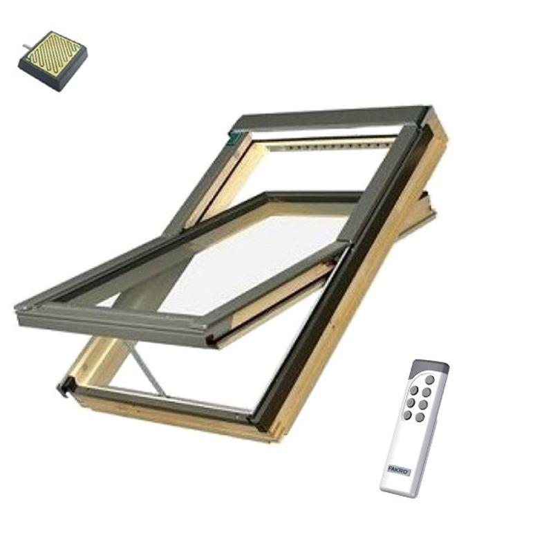Окно мансардное Fakro FTP-V U3 Z-Wave 940х1400 мм ручка снизу<br>Бренд: Fakro; Коллекция: FTP-V U3 Z-WAVE; Тип окна: Мансардное; Размер: 940Х1400 мм; Площадь остекления: 0,92 м?; Количество камер: Однокамерное; Форма: Прямоугольная; Расположение оси: По центру; Материал: Дерево; Расположение рукоятки: Снизу; Заполнение камеры: Аргон; Особые свойства: Лакированное; Особые свойства: Вентиляционный клапан; Особые свойства: Звукоизоляция; Особые свойства: Закаленное стекло; Особые свойства: Дистанционное управление; Цвет: Серый; Страна производитель: ПОЛЬША; Вес: 46,6 кг;