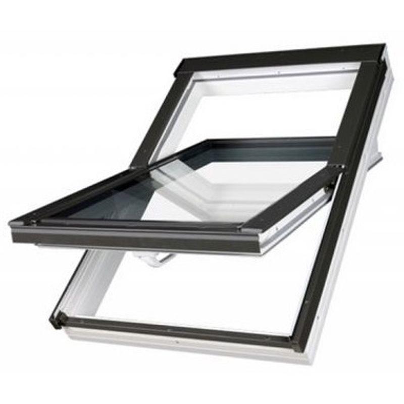 Окно мансардное Fakro PTP U3 Z-Wave 780х1180 мм ручка снизу<br>Бренд: Fakro; Коллекция: PTP U3; Тип окна: Мансардное; Размер: 780Х1180 мм; Площадь остекления: 0,59 м?; Количество камер: Однокамерное; Форма: Прямоугольная; Расположение оси: По центру; Материал: ПВХ; Расположение рукоятки: Снизу; Заполнение камеры: Аргон; Особые свойства: Закаленное стекло; Особые свойства: Звукоизоляция; Цвет: Синий; Страна производитель: ПОЛЬША; Вес: 35,1 кг;