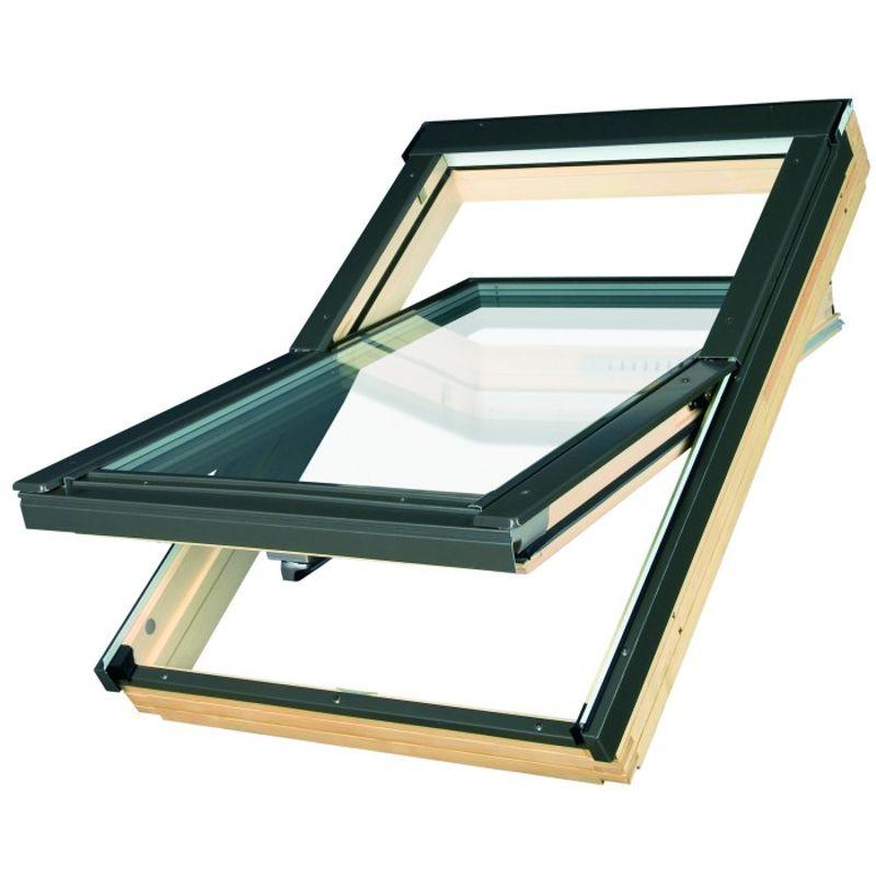 Окно мансардное Fakro FTT U6 Thermo 1340x980 мм ручка снизу<br>Бренд: Fakro; Коллекция: FTT U6; Тип окна: Мансардное; Размер: 1340Х980 мм; Площадь остекления: 0,92 м?; Количество камер: Двухкамерное; Форма: Прямоугольная; Расположение оси: По центру; Материал: Дерево; Расположение рукоятки: Снизу; Заполнение камеры: Аргон; Особые свойства: Лакированное; Особые свойства: Закаленное стекло; Особые свойства: Звукоизоляция; Цвет: Зеленый; Страна производитель: ПОЛЬША; Вес: 46,1 кг;