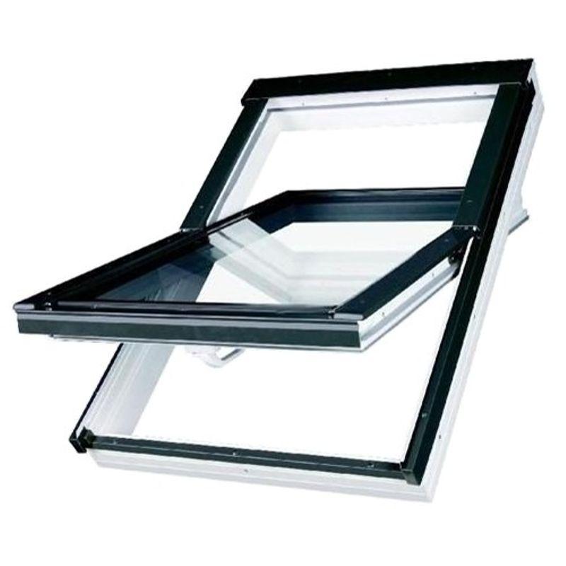 Окно мансардное Fakro PTP U3 550x980 мм ручка снизу<br>Бренд: Fakro; Коллекция: PTP U3; Тип окна: Мансардное; Размер: 550Х980 мм; Площадь остекления: 0,29 м?; Количество камер: Однокамерное; Форма: Прямоугольная; Расположение оси: По центру; Материал: ПВХ; Расположение рукоятки: Снизу; Заполнение камеры: Аргон; Особые свойства: Закаленное стекло; Особые свойства: Лакированное; Особые свойства: Звукоизоляция; Особые свойства: Вентиляционный клапан; Цвет: Коричневый; Цвет производителя: ЗОЛОТОЙ ДУБ; Страна производитель: ПОЛЬША; Вес: 24 кг;
