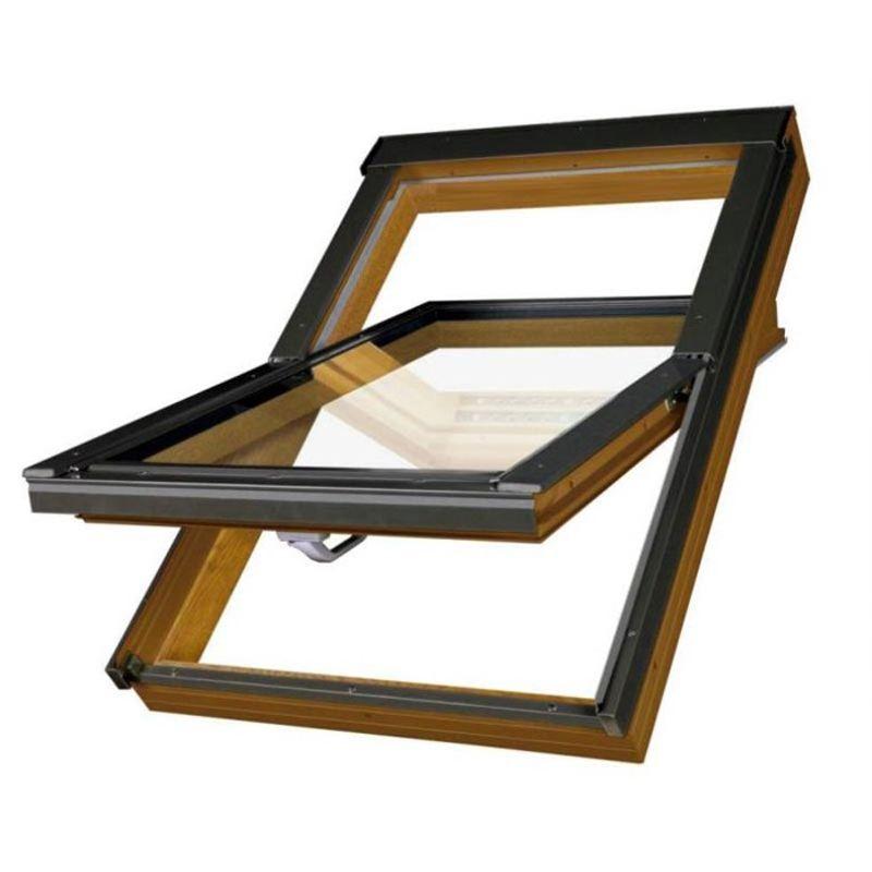 Окно мансардное Fakro PTP /GO U3 1140x1400 мм ручка снизу Золотой дуб<br>Бренд: Fakro; Коллекция: PTP /GO U3; Тип окна: Мансардное; Размер: 1140Х1400 мм; Количество камер: Однокамерное; Форма: Прямоугольная; Расположение оси: По центру; Материал: ПВХ; Расположение рукоятки: Снизу; Заполнение камеры: Аргон; Особые свойства: Вентиляционный клапан; Особые свойства: Закаленное стекло; Особые свойства: Звукоизоляция; Цвет: Коричневый; Цвет производителя: ЗОЛОТОЙ ДУБ; Страна производитель: ПОЛЬША;