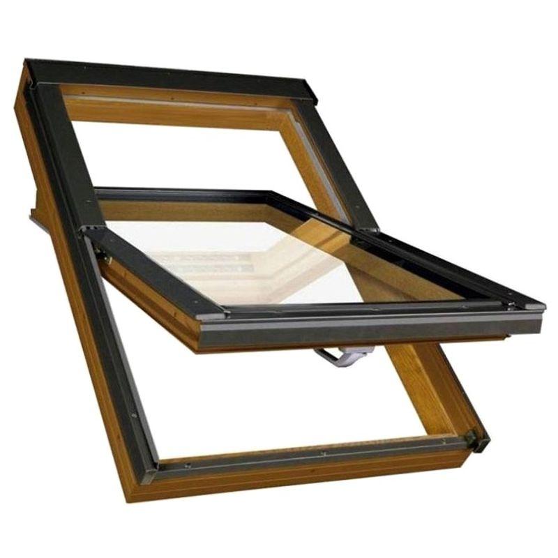 Окно мансардное Fakro PTP-V /GO U3 660x1180 мм ручка снизу Золотой дуб<br>Бренд: Fakro; Коллекция: PTP-V /GO U3; Тип окна: Мансардное; Размер: 660Х1180 мм; Площадь остекления: 0,47 м?; Количество камер: Однокамерное; Форма: Прямоугольная; Расположение оси: По центру; Материал: ПВХ; Расположение рукоятки: Снизу; Заполнение камеры: Аргон; Особые свойства: Вентиляционный клапан; Особые свойства: Закаленное стекло; Особые свойства: Дистанционное управление; Особые свойства: Звукоизоляция; Цвет: Коричневый; Цвет производителя: ЗОЛОТОЙ ДУБ; Страна производитель: ПОЛЬША; Вес: 30,6 кг;
