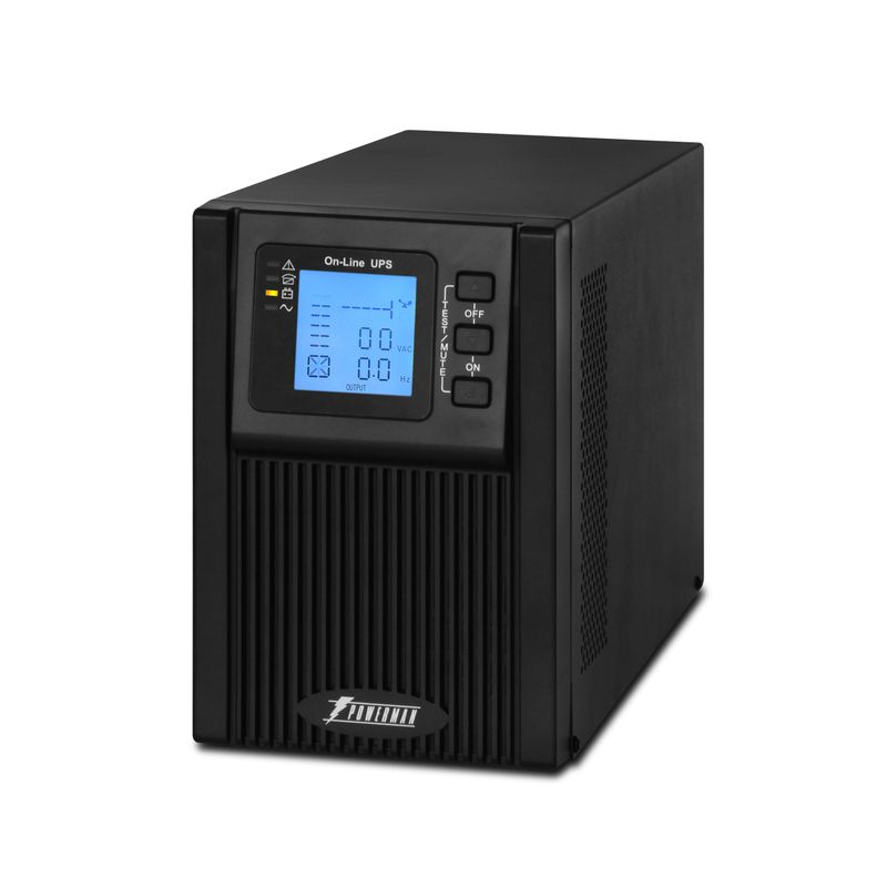 ИБП POWERMAN Online 1000 Plus<br>Бренд: POWERMEN; Модель: Online 1000 Plus; Мощность: 1000ВА/800Вт; Время автономной работы от батарей: 3-25 мин; Встроенные батареи: Внешний блок свинцово-кислотных батарей напряжением 24В (2 шт. х 12В); Диапозон напряжений: От 115±5 до 295±5 В переменного напряжения; Диапозон входных частот: 45 Гц-55 Гц для 50 Гц/ 55 Гц-65 Гц для 60 Гц; Время перехода на батареи: 0 мс; Среднее время подзарядки: 6-8 часов до 90% полной емкос; Габариты: 144х400х215 мм; Уровень шума: Менее 40дб; Гарантия: 2 года; Страна производитель: Китай;