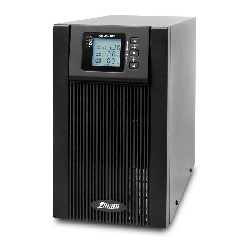 ИБП POWERMAN Online 3000<br>Бренд: POWERMEN; Модель: Online 3000; Мощность: 3000ВА/2400Вт; Время автономной работы от батарей: 3-25 мин; Встроенные батареи: 12В 9 Ач -  6 шт; Диапозон напряжений: От 115±5 до 295±5 В переменного напряжения; Диапозон входных частот: 45 Гц-55 Гц для 50 Гц/ 55 Гц-65 Гц для 60 Гц; Время перехода на батареи: 0 мс; Среднее время подзарядки: 6-8 часов до 90% полной емкос; Габариты: 191х469х339 мм; Уровень шума: Менее 40дб; Гарантия: 2 года; Страна производитель: Китай;
