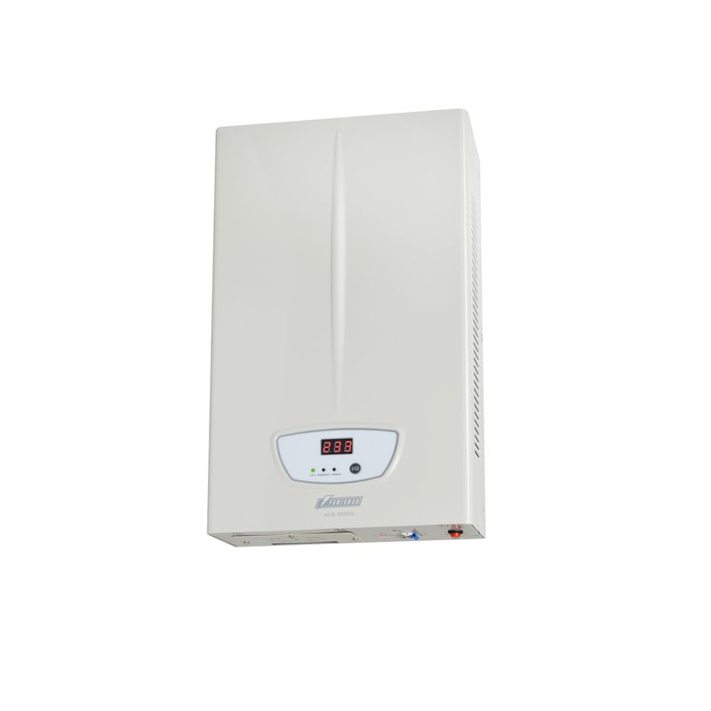 Стабилизатор POWERMAN AVS 5000S<br>Бренд: POWERMEN; Вид: Настенный; Входное напряжение: 110-260 В; Выходное напряжение: 220  ± 8% (202 - 237) В; Габариты: 430х250х80 мм; Гарантия: 1 год; Модель: AVS 5000S; Максимальная мощность: до 5000 ВА; Напряжение срабатывания защиты от повышенного выходного напряжения: 255 ± 5 В; Напряжение срабатывания защиты от пониженного выходного напряжения: 180 ± 5 В; Диапазон рабочих температур: От 0°С до 40°С; Номинальная мощность: 5000 ВА; Срабатывание термозащиты при повышении температуры трансформатора: 120 ± 10 °С; Время переключения: не более 5-7 мс; Степень защиты: IP 20; Страна производитель: Китай; Вес: 9,26 кг; Комплектация: Руководство по эксплуатации;