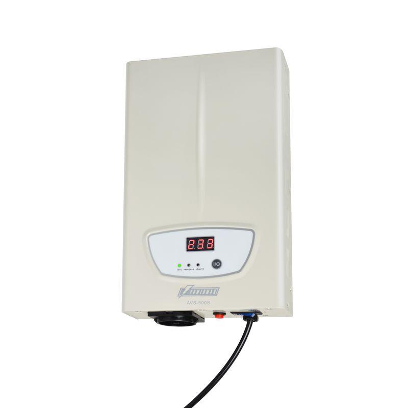 Стабилизатор POWERMAN AVS 500S<br>Бренд: POWERMEN; Вид: Настенный; Входное напряжение: 110-260 В; Выходное напряжение: 220  ± 8% (202 - 237) В; Габариты: 290х175х68 мм; Гарантия: 1 год; Модель: AVS 500S; Максимальная мощность: до 500 ВА; Напряжение срабатывания защиты от повышенного выходного напряжения: 255 ± 5 В; Напряжение срабатывания защиты от пониженного выходного напряжения: 180 ± 5 В; Диапазон рабочих температур: От 0°С до 40°С; Номинальная мощность: 500 ВА; Срабатывание термозащиты при повышении температуры трансформатора: 120 ± 10 °С; Время переключения: не более 5-7 мс; Степень защиты: IP 20; Страна производитель: Китай; Вес: 2,42 кг; Комплектация: Руководство по эксплуатации;