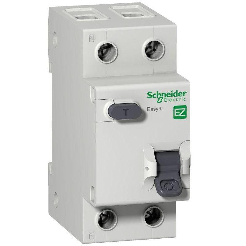Выключатель автоматический дифференциального тока 2п (1P+N) C 16А 30мА тип AC 4.5кА EASY9 2мод. SchE EZ9D34616