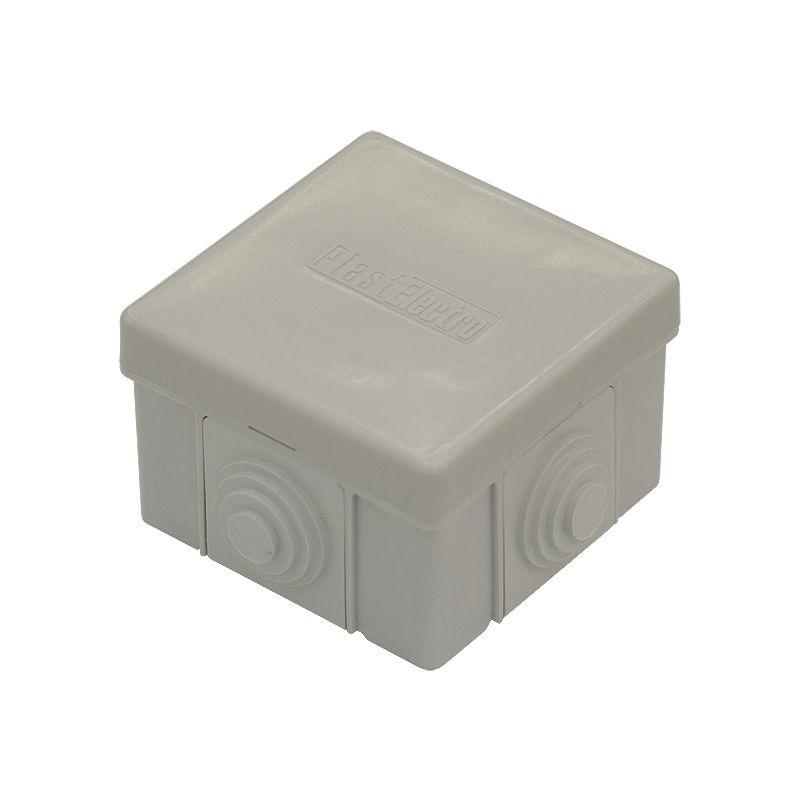 Коробка распределительная 4 ввода 65x65x40мм<br>Страна производитель: Россия; Бренд: PlastElectro; Цвет: Белый; Объект применения: Для бетона; Объект применения: Для кирпича; Количество выводов: 4; Назначение: Разветвление проводов и кабелей; Тип установки: Открытый; Крепление коробки: Саморезы; Крепление проводов: На спайку; Крепление проводов: На скрутку; Форма коробки: Квадратная; Материал: Пластик; Степень защиты: IP54; Высота: 40 мм; Ширина: 65 мм; Длина: 65 мм; Минимальная температура эксплуатации: -25 °C; Максимальная температура эксплуатации: +40 °C;