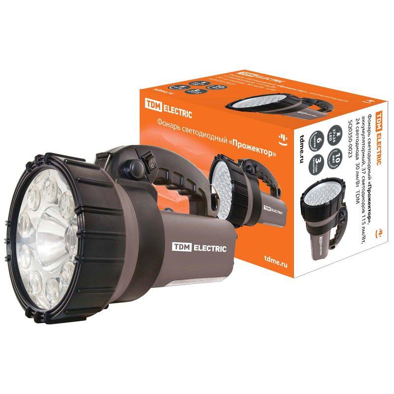 Фонарь светодиодный TDM Прожектор, аккумуляторный, 37 светодиодов