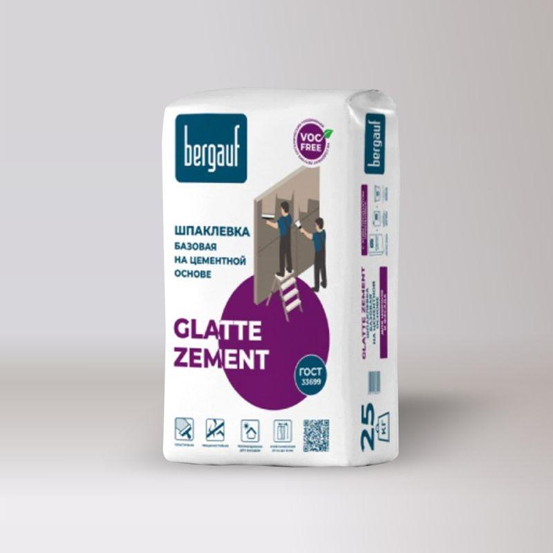 Шпаклевка цементная серая Bergauf Glatte Zement 25 кг