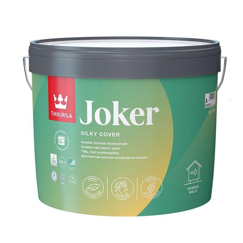 Купить Краска интерьерная латексная Tikkurila JOKER матовая, база C, 9л, Бесцветный