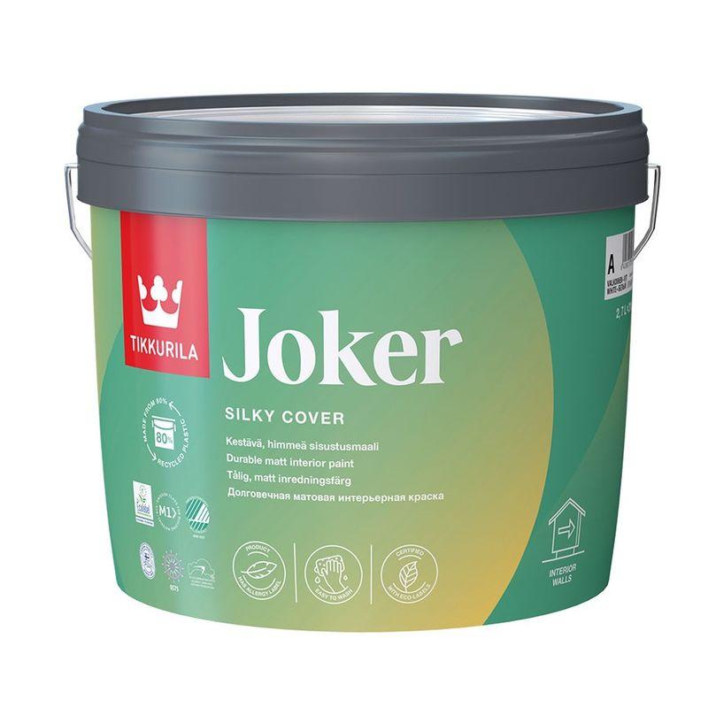 Купить Краска интерьерная латексная Tikkurila JOKER матовая, база А, 18л, Белый