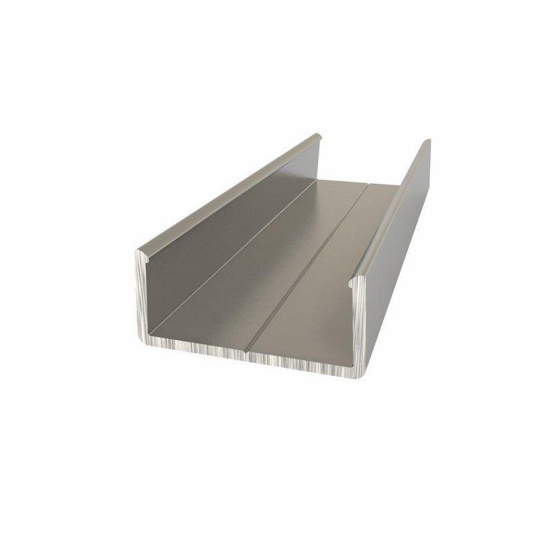 Алюминиевый анодированный профиль накладной(держатель для плоского и круглого профиля) (3 метра) NEON-NIGHT<br>