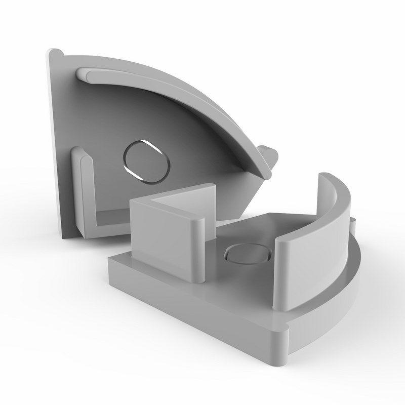 Заглушка торцевая для профиля углового (комплект 2шт)<br>