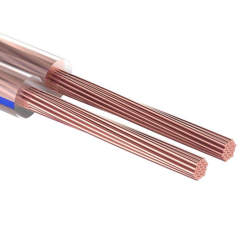 Кабель акустический, 2х4,00 мм?, прозрачный BLUELINE, 100 м, REXANT<br>