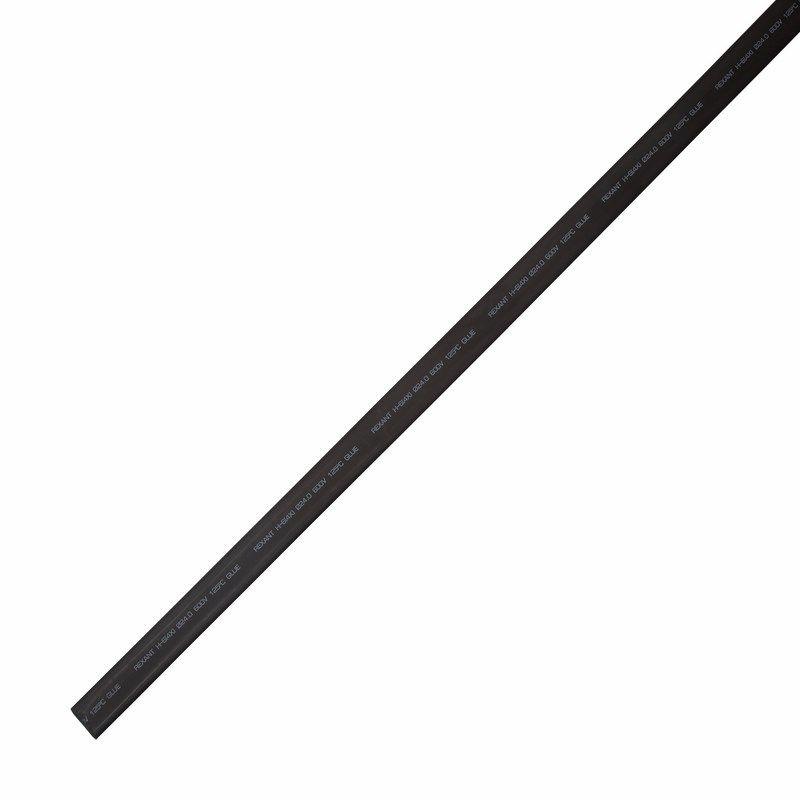 Клеевая 24,0/6,0мм (4:1) 1м Термоусадка черная REXANT<br>