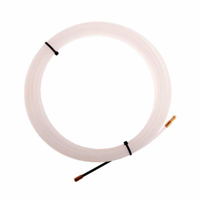 Протяжка кабельная (мини УЗК в бухте), 15м, нейлон, d=3мм, латунный наконечник, заглушка,<br>Количество в упаковке: 1; Цвет: Белый; Габариты: 420х320х20 мм; Артикул: 47-1015-1; Страна производитель: Китай; Бренд: REXANT; Диаметр: 3 мм; Материал: Нейлон; Длина: 15 м; Упаковка: Бухта; Тип наконечника: Латунный наконечник; Тип наконечника: Заглушка;