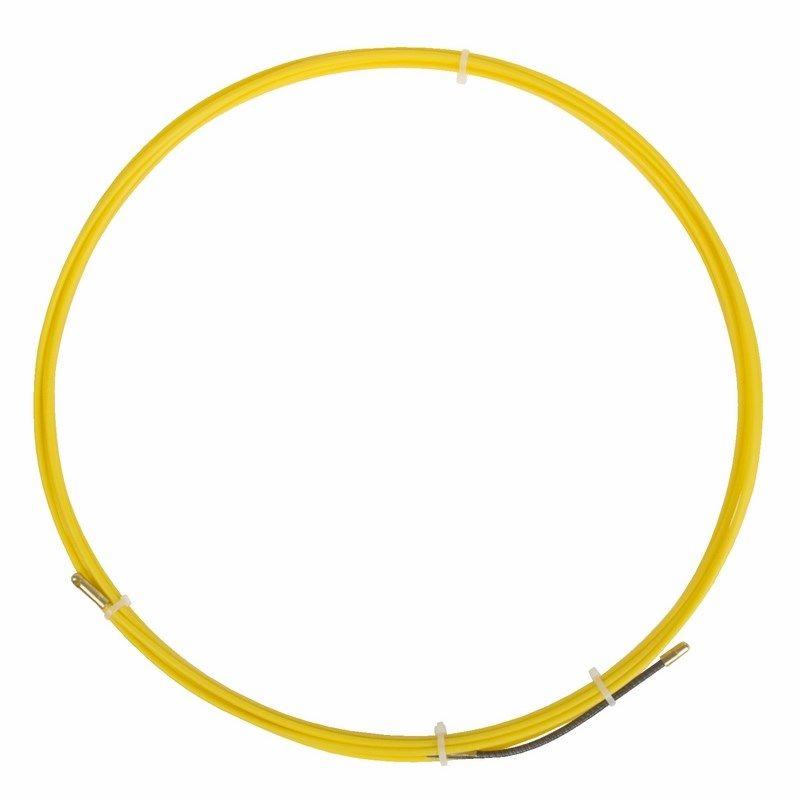 Протяжка кабельная (мини УЗК в бухте), стеклопруток, d=3,0мм, 10м ProConnect<br>Артикул: 47-1010-6; Количество в упаковке: 1; Цвет: Желтый; Страна производитель: Китай; Бренд: PROconnect; Диаметр: 3 мм; Материал: ПНД; Длина: 10 м; Упаковка: Бухта; Тип наконечника: Фиксированный;
