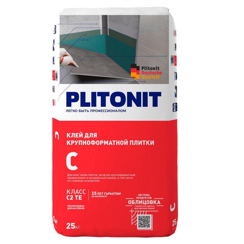 Купить Клей для плитки Плитонит С, 25 кг, Plitonit, Серый