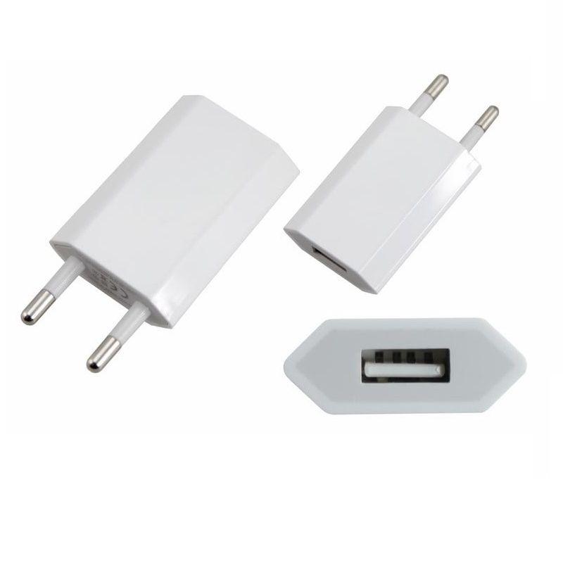 Сетевое зарядное устройство iPhone/iPod USB белое (СЗУ) (5V, 1 000 mA) REXANT