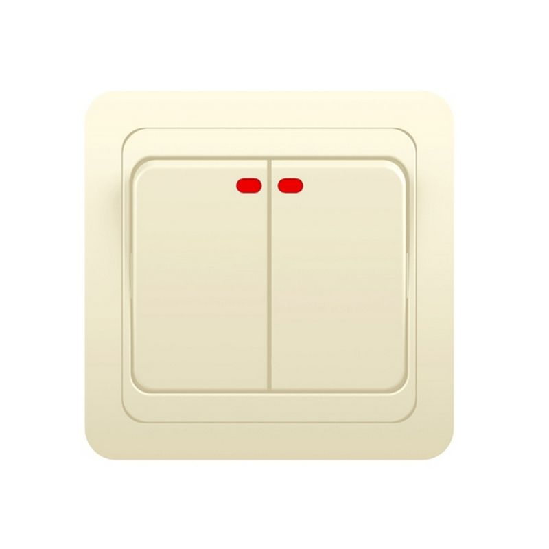 Выключатель Powerman Серия CLASSIC 2кл СП 10А с индикацией цвет крем<br>Родина бренда: КИТАЙ; Бренд: Powerman; Коллекция: CLASSIC; Стилизация: МОНОТОННЫЙ; Цвет: БЕЖЕВЫЙ; Цвет производителя: КРЕМ; Тип выключателя: КЛАВИШНЫЙ; Тип установки: ВСТРАИВАЕМЫЙ; Количество клавиш: 2; Материал корпуса: ABS-пластик; Номинальный ток: 10 А; Номинальное напряжение: 220 В; Наличие рамки: ДА; Подсветка: С ПОДСВЕТКОЙ; Высота: 42 мм; Ширина: 82 мм; Длина: 82 мм; Степень защиты: IP20;