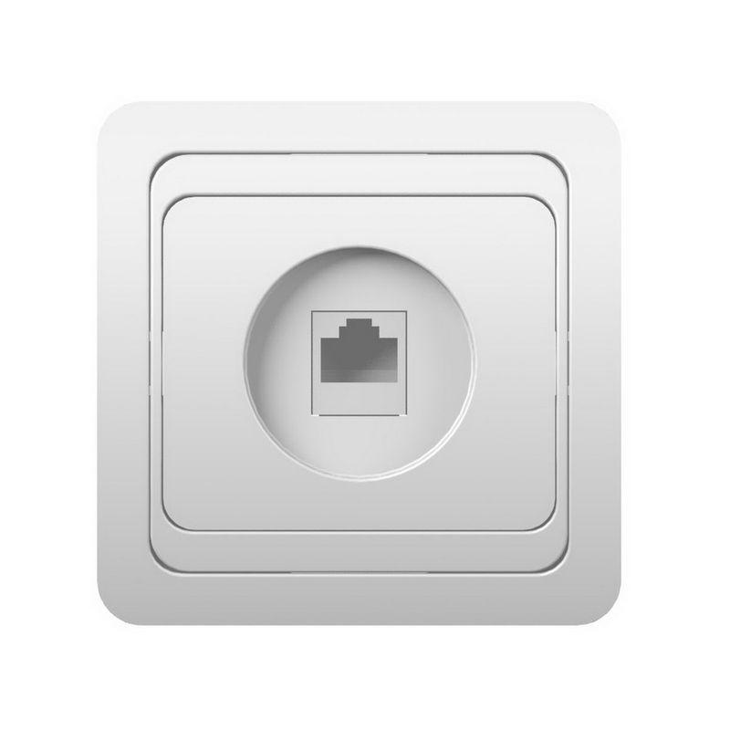 Розетка Powerman Серия CLASSIC телефонная 1м СП 4P4C цвет белый<br>Родина бренда: КИТАЙ; Бренд: Powerman; Длина: 82 мм; Ширина: 82 мм; Высота: 40 мм; Цвет: БЕЛЫЙ; Тип розетки: ТЕЛЕФОННАЯ; Цвет производителя: БЕЛЫЙ; Коллекция: CLASSIC; Количество розеток: 1; Стилизация: МОНОТОННЫЙ; Тип установки: ВСТРАИВАЕМЫЙ; Метод крепления: РАЗДВИЖНЫЕ ЛАПКИ;ВИНТАМИ; Материал корпуса: ABS-пластик; Материал корпуса рамки: ABS-пластик; Наличие рамки: ДА; Наличие крышки: НЕТ; Степень защиты: IP 20;