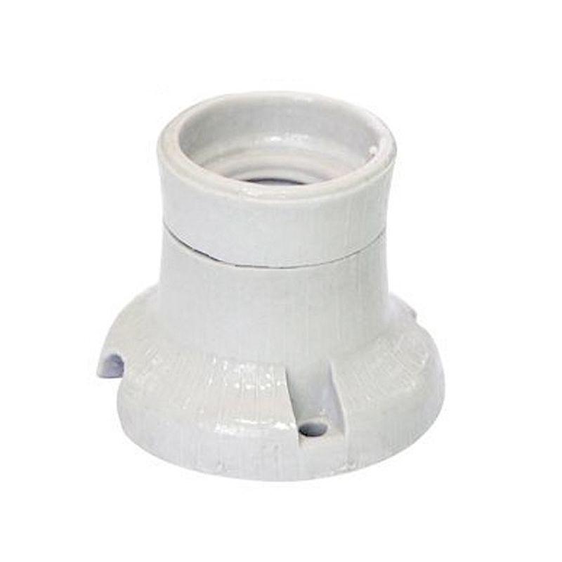 Патрон керамический потолочный Е27<br>Страна производитель: Украина; Бренд: Упп утос; Назначение: Для ламп с резьбой эдисона; Тип: Потолочный; Типоразмер цоколя: Е27; Способ монтажа: Фланцевый; Диаметр: 27 мм; Материал: Керамика; Цвет корпуса: Белый; Номинальный ток: 4 А; Номинальное напряжение: 220 В; Степень защиты: IP 20; Минимальная температура эксплуатации: -50 °C; Максимальная температура эксплуатации: +200 °C;