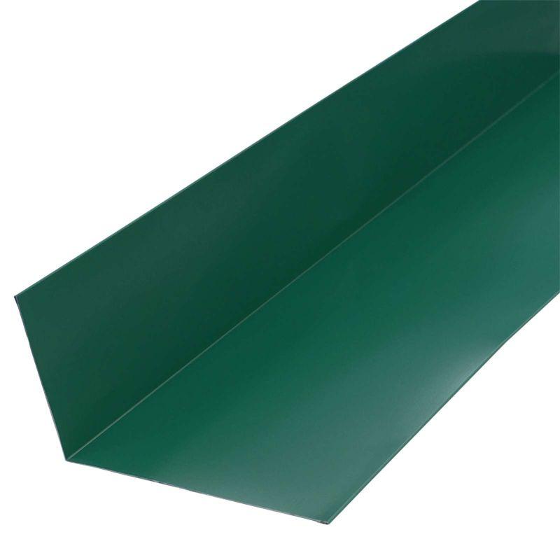 Планка примыкания верхняя Металлпрофиль Pe RAL 6005 250x147x2000ммСФЕРА ПРИМЕНЕНИЯ: Планка примыкания металлическая под цвет профнастила.<br>Длина 2 метра<br>Назначение: Металлочерепица; Покрытие: ПЭ (полиэстер); Тип: Верхняя;