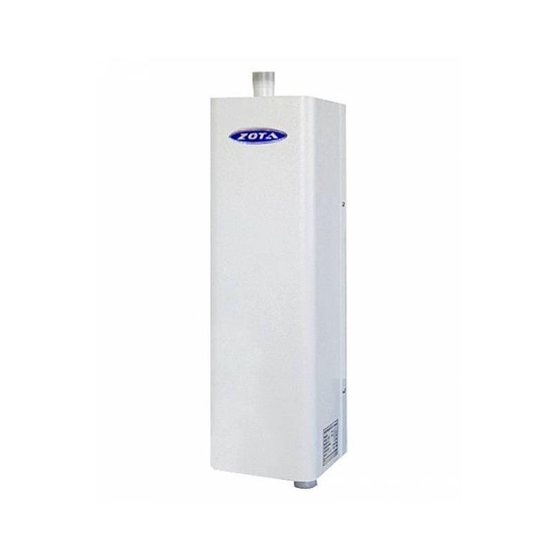 Котел электрический ZOTA Econom 30Электрический котел отопления ZOTA Econom 30 кВт (12-21-30 кВт/380 В), с датчиком температуры воздуха, без пульта управления<br><br>Настенный электрический&amp;nbsp;одноконтурный&amp;nbsp;отопительный котел тепловой мощностью 12-30 кВт, в комплекте с датчиком температуры воздуха, защитным кожухом, кронштейном и болтами для крепления, для использования в автономных системах отопления или горячего водоснабжения с давлением не более 0,6 МПа в жилых и хозяйственно-бытовых помещениях площадью до 300 кв.м.<br><br>НАЗНАЧЕНИЕ:<br><br>Автономное теплоснабжение жилых и хозяйственно-бытовых помещений площадью до 300 кв. м.;<br>Горячее водоснабжение;<br>Нагрев воды для технических целей (в системах водных подогреваемых полов);<br>Использование в системах с естественной и насосной циркуляцией.<br><br>ПРЕИМУЩЕСТВА:<br><br>Многофункциональность: может использоваться для отопления, обеспечения горячего водоснабжения, а также в системах подогреваемых водных полов;<br>Датчик температуры воздуха в комплекте;<br>Простой монтаж без необходимости устанавливать вытяжку и дымоход;<br>Экологичность: нет вредных выбросов;<br>Экономичное потребление энергии: трехступенчатая регулировка мощности 12,0/21,0/30,0 кВт;<br>Возможность устанавливать котел как в системах отопления с принудительной циркуляцией нагреваемой воды (что увеличивает эффективность системы&amp;nbsp;в целом), так и в системах с естественной циркуляцией (экономия на дополнительном оборудовании);<br>Возможность использования котла в сетях, связанных с центральным отоплением, (только) с применением развязывающего теплообменника;<br>Надежность: система&amp;nbsp;самодиагностики&amp;nbsp;электронных блоков;<br>Практичность: система ротации нагревательных элементов и силовых блоков;<br>Простая эксплуатация: управление водонагревателем от вынесенной в отдельный корпус панели управления (ПУ ЭВТ-И3 дополнительная принадлежность) с помощью бесшумных силовых реле и магнитных пускателей: автоматическое под