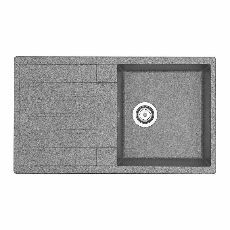 Купить Мойка кухонная Акватон Верона серый (1A710032VR230), Серый, Искусственный мрамор, Россия
