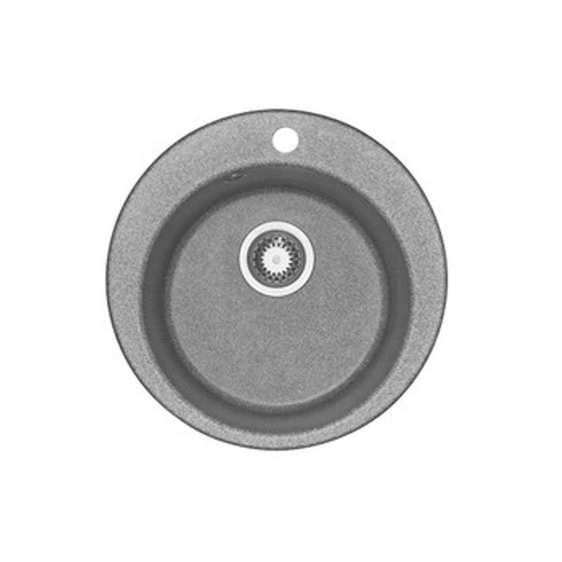 Купить Мойка кухонная Акватон Иверия серый (1A711032IV230), Серый, Искусственный мрамор, Россия