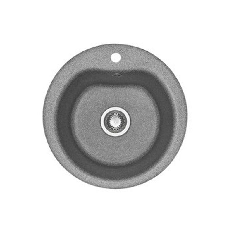 Купить Мойка кухонная Акватон Мида серый (1A712732MD230), Серый, Искусственный мрамор, Россия