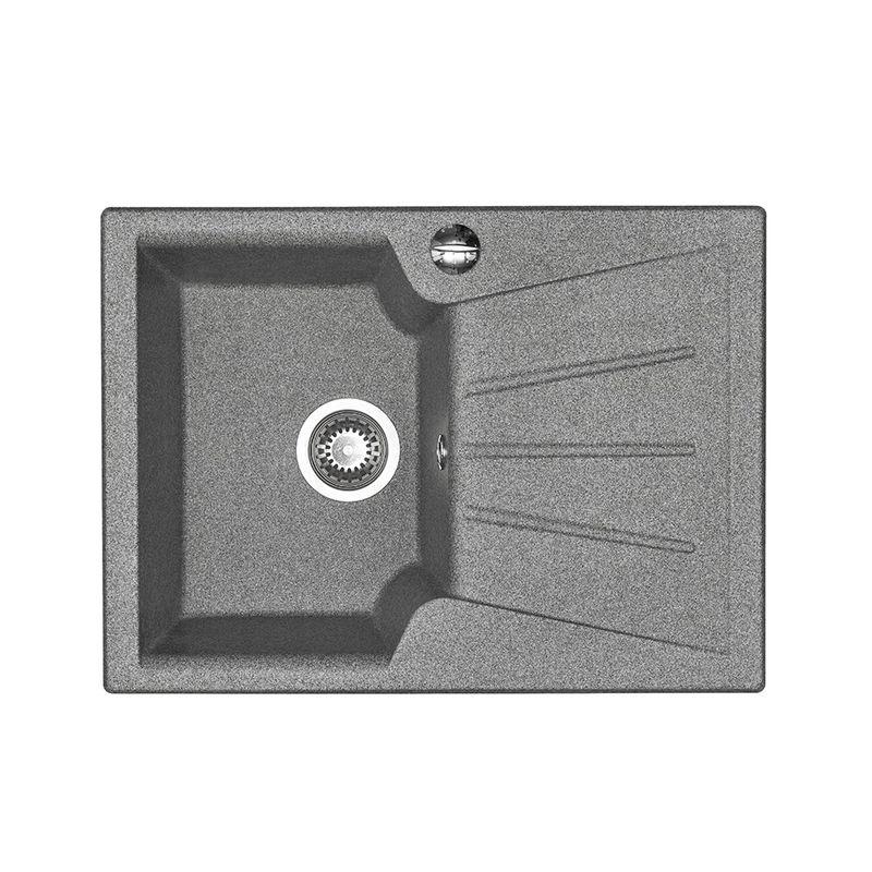 Купить Мойка кухонная Акватон Монца серый (1A716032MC230), Серый, Искусственный мрамор, Россия