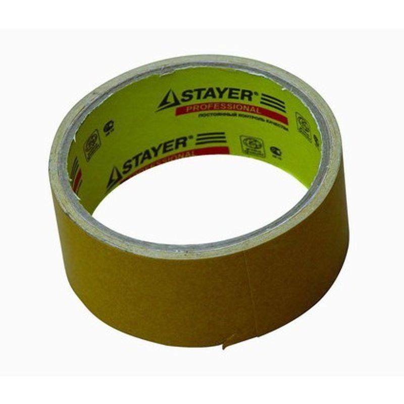 Скотч двухсторонний Stayer полипропиленовый, 48 мм, 25 м