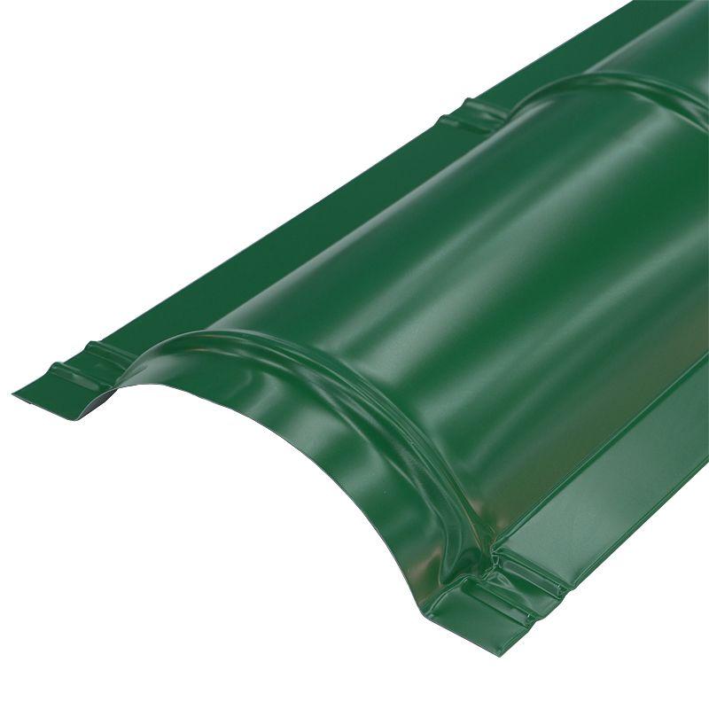 Купить Планка конька круглого Металлпрофиль Pe RAL 6005 R110х2000мм зеленый мох