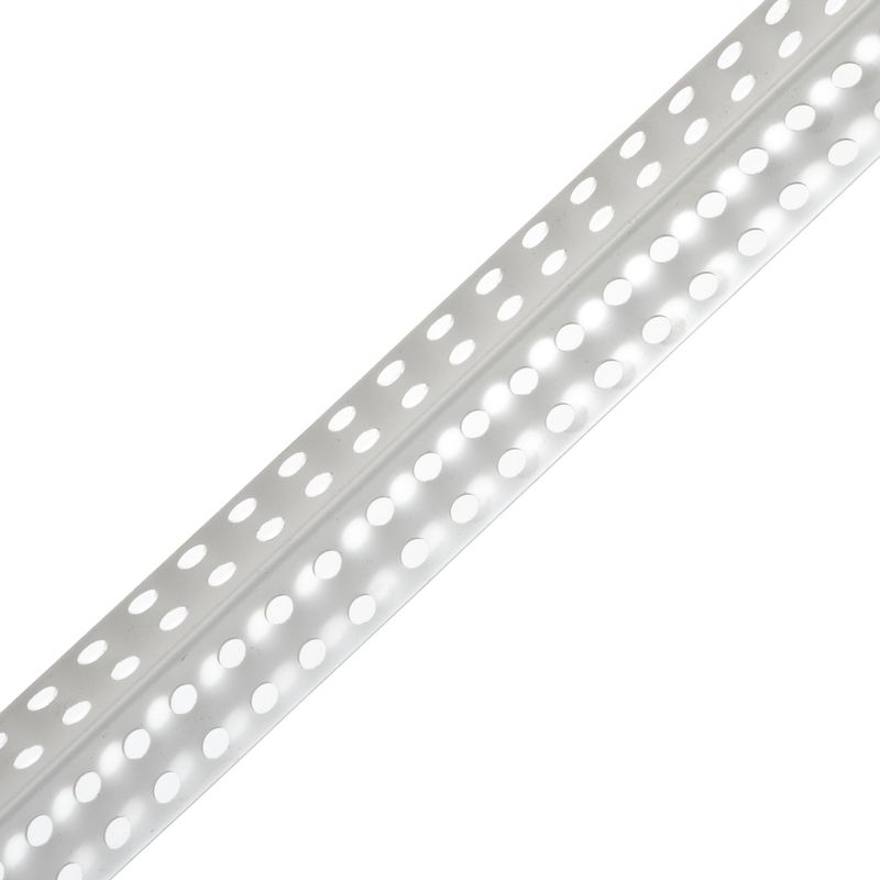 Уголок перфорир. 25х25 мм под штукатурку, 3 мУголок перфорированный 25х25 под штукатурку белый<br><br>Уголок из пластика с перфорацией для штукатурных работ, цвет белый, длина 3м.<br><br>НАЗНАЧЕНИЕ:<br><br>Используется при подготовке поверхности под оклейку или покраску;<br><br>Выравнивание углов стен, потолка, различных конструкций;<br><br>Устранение щелей, неплотного прилегания поверхностей друг другу;<br><br>Придать прочность, долговечность конструкциям из гипсокартона, дверным, оконным откосам, предотвратить появление трещин, сколов.<br><br>ПРЕИМУЩЕСТВА:<br><br>Прочное сцепление профиля с сопрягаемой поверхностью благодаря перфорации (перфорированный уголок &amp;ndash; уголок с множеством отверстий разного диаметра, при его установке в отверстия попадает шпаклевка);<br><br>Плотное прилегание к поверхности стены, благодаря гибкой основе пвх и возможность создания арок;<br><br>Материал &amp;ndash; пластик, не боится влаги (водопоглощение менее 1%), стоек к грибковым поражениям, не подвергается коррозии, химически инертен (можно использовать для закладки в цементный раствор, который имеет щелочную среду);<br><br>Не требует покраски и дополнительной обработки, в отличие от деревянных уголков;<br><br>Изменение температуры не вызывает сбора влаги под уголком, следовательно, не рвется штукатурка на углах;<br><br>Направляющая для шпателя &amp;ndash; выделяющаяся вершина угла относительно полочек на 1мм;<br><br>Незаметен, та как находится под штукатуркой и имеет белый цвет;<br><br>Вес 0.25кг &amp;ndash; удобство транспортировки, погрузки, разгрузки, монтажа;<br><br>Возможность использовать с различными отделочными штукатурными, шпаклевочными, клеевыми смесями;<br><br>Ценовая доступность, дешевле алюминиевых и деревянных аналогов.<br><br>РЕКОМЕНДАЦИИ:<br><br>Общие рекомендации:<br><br>При выборе материала уголка (оцинкованная сталь, алюминий, пластик) учитывайте влажность помещения, в котором он будет эксплуатироваться, а так же возможные механические нагрузки и поврежден