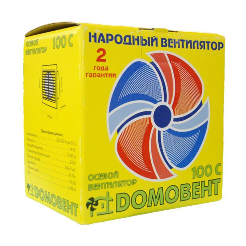 Вентилятор 100 СВ Домовент<br>Страна производитель: Украина; Бренд: Домовент; Модель: Нет; Область применения: Для ванной; Назначение: Вытяжной; Тип установки: Обычный; Материал: Пластик abs; Производительность: 94 м?/ч; Уровень шума: 39 дБ; Потребляемая мощность: 14 Вт; Номинальное напряжение: 220-240 В; Дополнительные характеристики: Защитная сетка от насекомых; Дополнительные характеристики: Двигатель с повышенной производительностью; Дополнительные характеристики: Низковольтный двигатель; Дополнительные характеристики: Шнурковый выключатель; Цвет: Белый; Высота: 150 мм; Ширина: 150 мм; Длина: 108 мм; Диаметр: 100 мм; Степень защиты: 34 IP; Температура эксплуатации: От 0 до +45 °C;