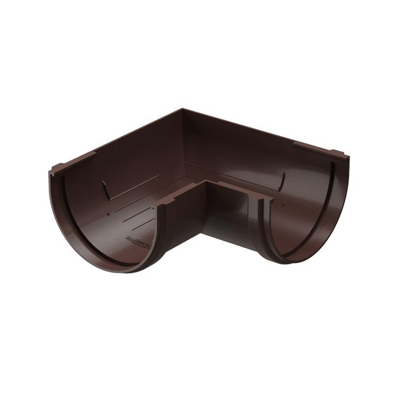 Угловой элемент желоба 90гр. шоколад ДёкеОбеспечивает изменение направления движения воды по водосточному желобу.<br>Может использоваться как на внутренних, так и на наружных углах кровли.<br><br>Бренд: Docke; Коллекция: Standard; Угол изгиба: 90 °; Материал: Пластик; Сечение: Круглое; Цвет: Коричневый; Цвет производителя: Шоколад; Область применения: Для пвх водосточки; Страна производитель: Россия; Вес: 0,266 кг;