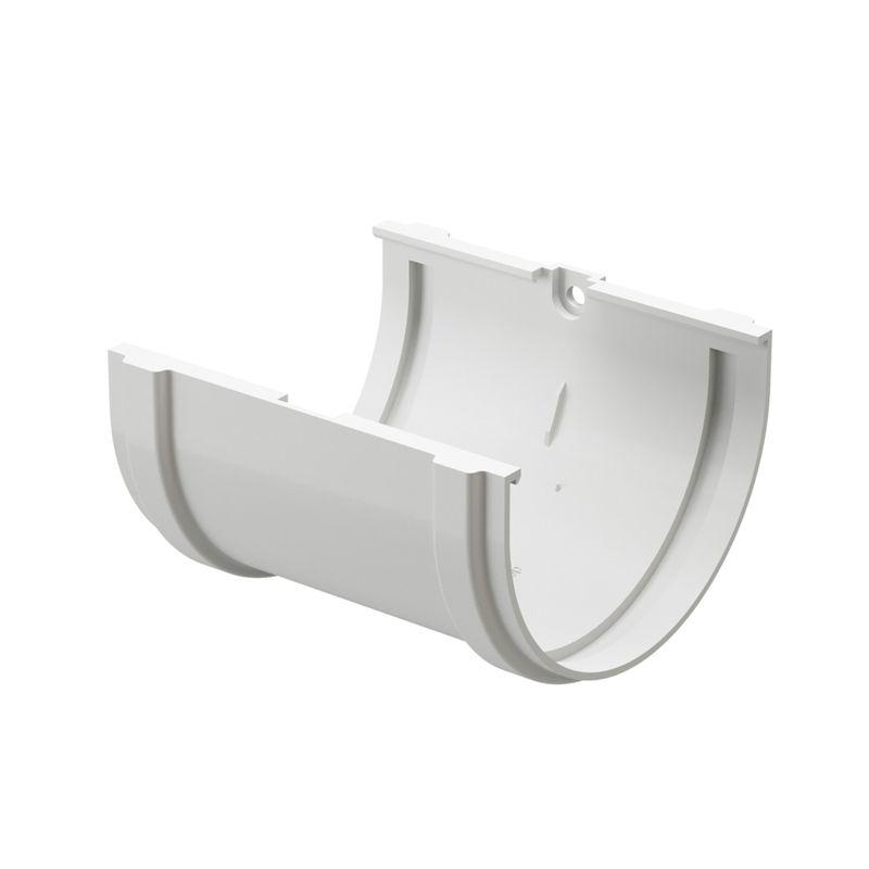 Соединитель желобов Docke Standart Пломбир<br>Бренд: Docke; Коллекция: Standard; Диаметр желоба: 120 мм; Материал: Пластик; Сечение: Круглое; Цвет: Белый; Цвет производителя: Пломбир; Область применения: Для пвх водосточки; Страна производитель: Россия; Вес: 0,14 кг;