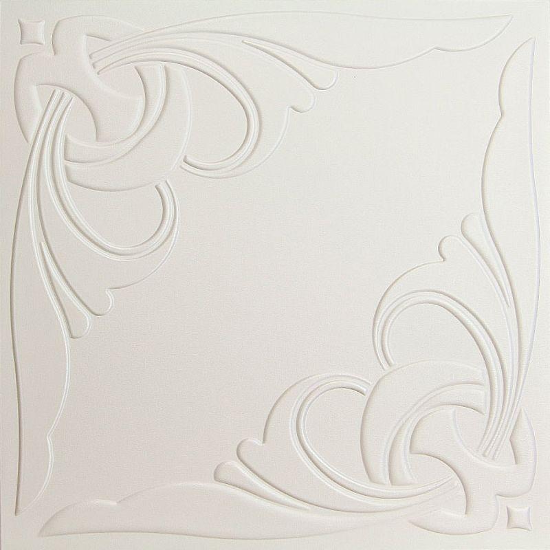 Потолок клеевой Солид Белый С2041 полистирол 50*50 см