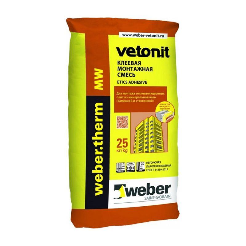 Купить Клеевая смесь Ветонит Therm MW, 25кг, Weber.Vetonit