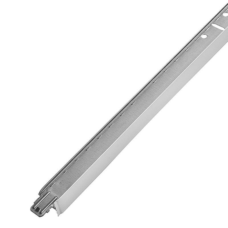 Подвесная система Албес Т-24 Евро 24х29х1200 белая матоваяПодвесная система Албес Т-24 Евро 24х29х1200 белая матовая<br><br>Поперечный профиль<br><br>НАЗНАЧЕНИЕ:<br><br>Для монтажа тяжелых потолочных панелей(гипс, керамика, витражное стекло, зеркало);<br><br>Монтаж гипсовых и стеклянных потолков;<br><br>Для плит размером 600х600, 600х1200;<br><br>Для установки в помещениях с нормальной влажностью, общего назначения;<br><br>Используется комплекте с несущим и поперечным профилем;<br><br>Монтаж подвесных кассетных потолков с кромками Tegular, Board, Line, Veсtor.<br><br>ПРЕИМУЩЕСТВА:<br><br>Простота монтажа (рейки вставляются одна в другую при помощи врезанных замков, без использования доп. Инструмента);<br><br>Многоразовое использование (Демонтаж без повреждений);<br><br>Легкость замены при ремонте;<br><br>Прочный (выдерживает нагрузку до 13,5 кг/м2);<br><br>Не подвержен коррозии (из стали);<br><br>Не горючий материал;<br><br>Оснащен пожарным компенсатором(потолок не обрушится во время пожара);<br><br>Возможна окраска в любой цвет по системе RAL;<br><br>РЕКОМЕНДАЦИИ<br><br>Общие&amp;nbsp;рекомендации:<br><br>Перед началом работ составьте план помещения и потолка;<br><br>Коммуникации закрепите на подвесах;<br><br>При помощи уровня, получите горизонтальную плоскость;<br><br>Рекомендации по работе:<br><br>По полученной плоскости закрепите уголки;<br><br>Несущий профиль установите на подвесах с шагом 1200 мм;<br><br>Профиль 3,7 метра закрепите встык, если длина помещения более 3,7 метра;<br><br>Профиль 1200 закрепите в несущем при помощи замков;<br><br>Профиль на 600 мм закрепите в несущем, перпендикулярно профилю на 1200мм;<br><br>Осветительные приборы закрепите на независимых подвесах;<br><br>МЕРЫ&amp;nbsp;ПРЕДОСТОРОЖНОСТИ:<br><br>Не размещайте проводку на каркасе;<br><br>Не применяйте в помещениях с повышенной влажностью;<br>Страна производитель: Россия; Бренд: Албес; Коллекция: Евро; Цвет производителя: Белый матовый; Тип подвесной системы: Кассетный; Профиль: Попереч