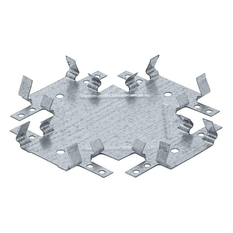 Соединитель профиля одноуровневый, Краб Кнауф<br>Бренд: Knauf; Тип: Одноуровневый; Форма: Краб; Материал: Оцинкованная сталь; Толщина металла: 0,9 мм; Область применения: Подвесной потолок из гипсокартона; Используется с профилем: ПП 60/27;