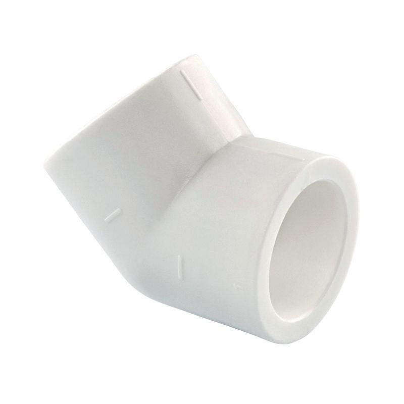 Угольник полипропиленовый соединительный TEBO 20 45°Предназначен для создания поворота на 45 градусов из полипропиленовых труб диаметром 20мм.<br><br>Производитель: Турция.<br><br>Технические характеристики:<br>Рабочая температура: +90С.<br>Максимальное давление: 20 атмосфер.<br>Тип: Соединительный; Тип монтажа: Сварка/сварка; Диаметр: 20 мм; Угол поворота: 45 °; Давление: 20 Бар; Максимальная рабочая температура: до + 95 °C; Материал: Полипропилен; Сфера применения: Горячее водоснабжение; Цвет: Белый; Бренд: TEBO; Страна производитель: Турция;