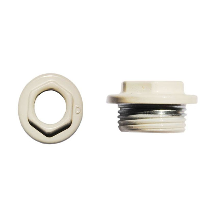 Переходник для радиатора левый 1х1/2 (белый)<br>Тип резьбы: Вр-нр; Диаметр резьбы: 1 х 1/2 ; Материал: Латунь; Бренд: Альтерпласт; Страна производитель: Китай;