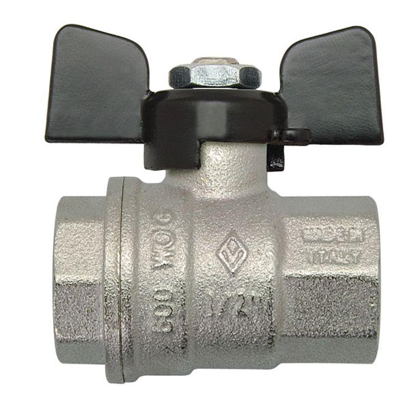 Кран шаровый Bugatti ВР 1/2Краны шаровые Bugatti (Бугатти) предназначены для монтажа сантехнических, отопительных, газо- и водопроводных систем, магистралей для транспортировки различных жидкостей и газов.<br>Технические параметры:<br>Рабочая температура: до +120 градусов Цельсия<br>Рабочее давление: до 40 атм<br>Присоединительный размер: 1/2 - диаметр условного прохода (15мм)<br>Материалы деталей: латунь, фторопластовые (P.T.F.E.) и резиновые (EPDM, NBR, Nitrile) уплотнения<br>Страна-производитель: Италия<br><br>Тип присоединения: Вр-вр; Диаметр: 1/2 ; Условный проход: Полупроходной; Тип ручки: Бабочка; Форма: Прямой; Давление: 40 Бар; Материал: Латунный; Дополнительные функции: -; Бренд: Bugatti; Страна производитель: Италия; Модель: Бабочка; Гарантия: 1 год;