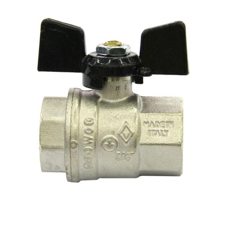 Кран шаровый Bugatti ВР 3/4Краны шаровые Bugatti (Бугатти) предназначены для монтажа сантехнических, отопительных, газо- и водопроводных систем, магистралей для транспортировки различных жидкостей и газов.<br>Технические параметры:<br>Рабочая температура: до +120 градусов Цельсия<br>Рабочее давление: до 40 атм<br>Присоединительный размер: 3/4 - диаметр условного прохода (20мм)<br>Материалы деталей: латунь, фторопластовые (P.T.F.E.) и резиновые (EPDM, NBR, Nitrile) уплотнения<br>Страна-производитель: Италия<br><br>Тип присоединения: Вр-вр; Диаметр: 3/4 ; Условный проход: Полупроходной; Тип ручки: Бабочка; Форма: Прямой; Давление: 40 Бар; Материал: Латунный; Дополнительные функции: -; Бренд: Bugatti; Страна производитель: Италия; Модель: Бабочка; Гарантия: 1 год;